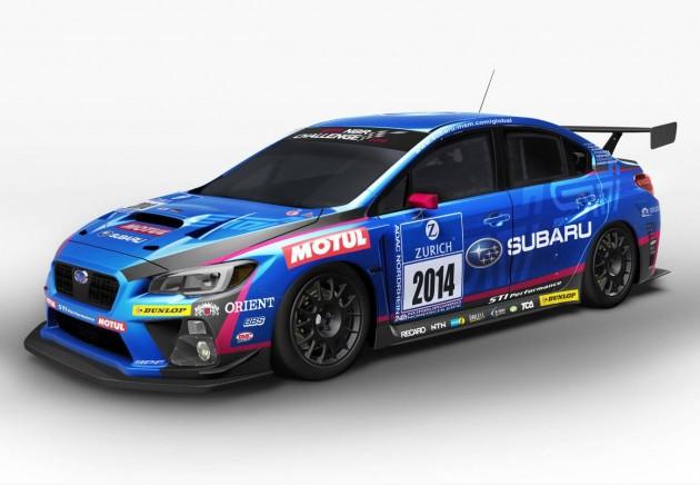 2014 Subaru WRX STI Nurburgring race car