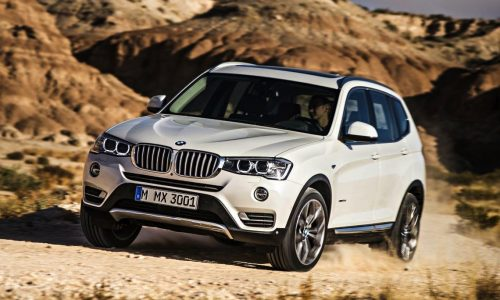 2014 BMW X3 facelift debuts updated 140kW '20d' engine