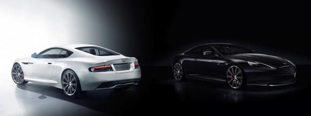 Aston Martin DB9 Carbon White and Black