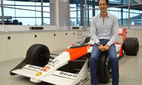 Bruno Senna paying tribute to Ayrton at Top Gear Festival Sydney