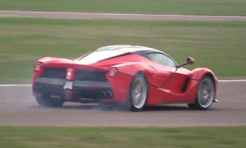 Kimi Raikkonen spins off in LaFerrari during testing
