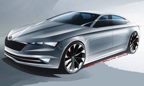 Skoda VisionC concept previews sleek new 'CC' model