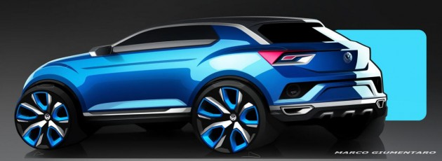 Volkswagen T-ROC concept-side rear