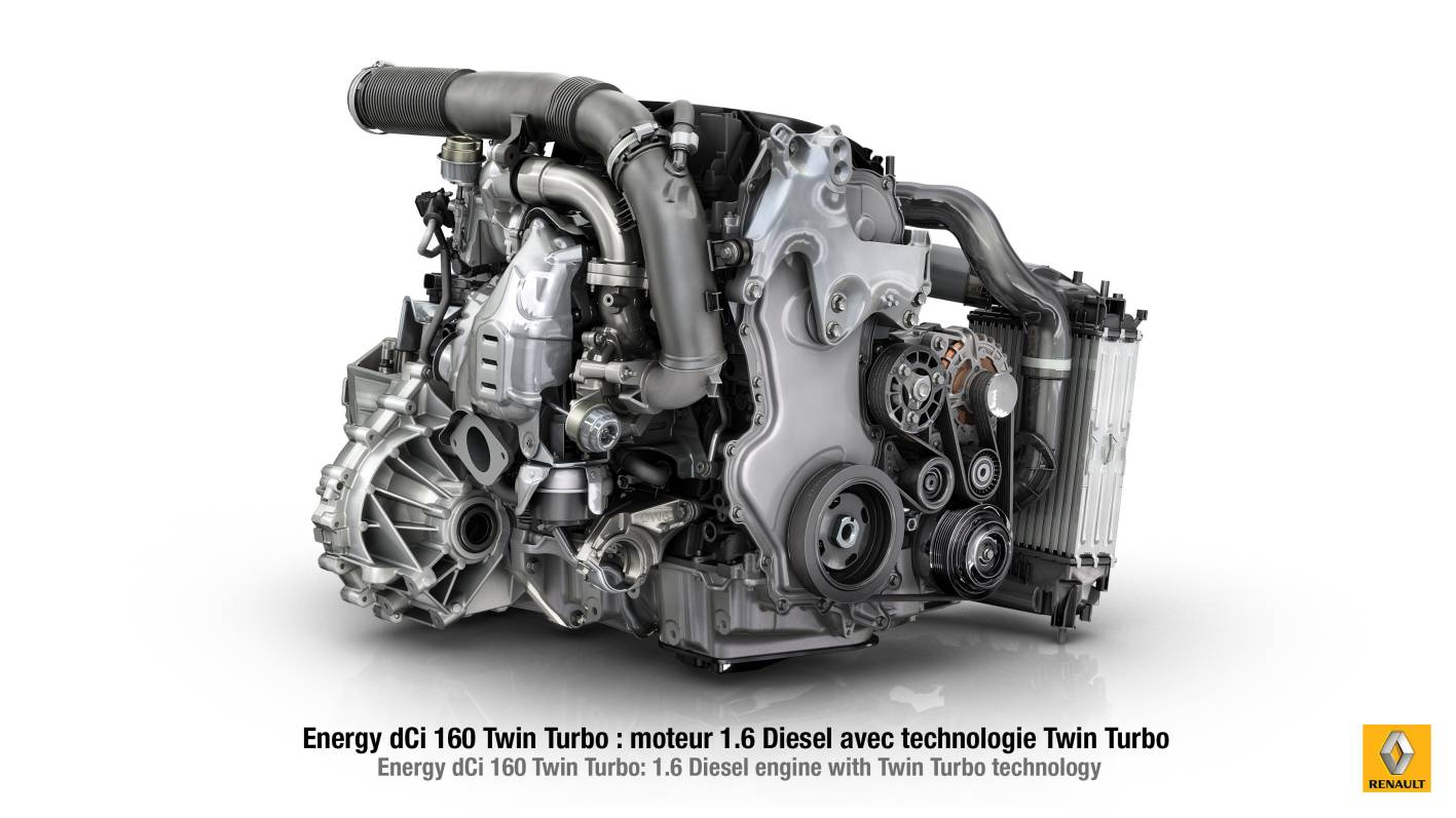 Renault's powerful new 1 6L Energy dCi twin-turbo diesel