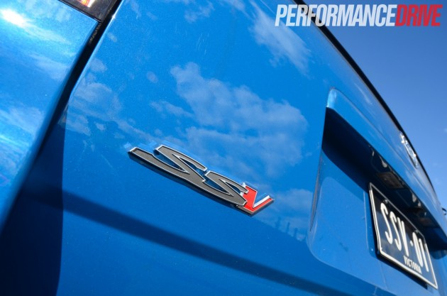 2014 Holden VF Commodore SS V Redline Ute badges