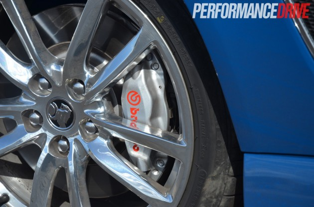 2014 Holden VF Commodore SS V Redline Ute polished wheels