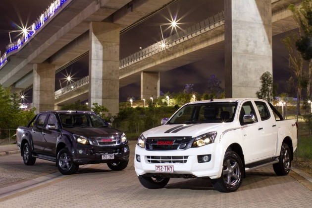 2014 Isuzu D-Max X-Runner-black and white