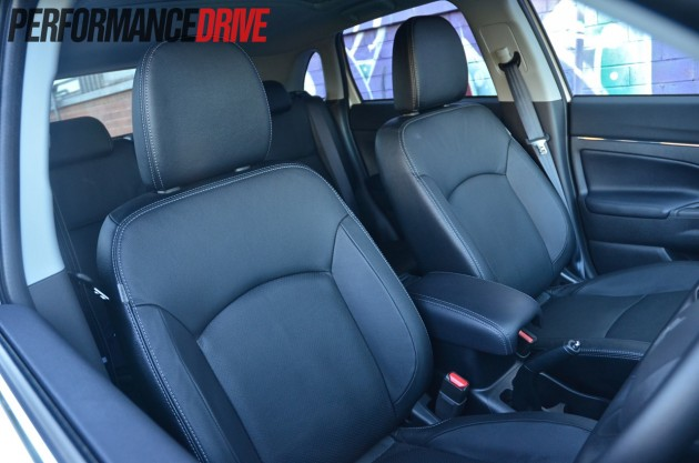 2014 Mitsubishi ASX Aspire AWD DiD front seats