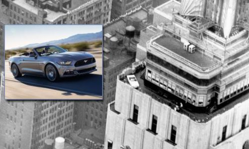 Ford Mustang heading to 86th floor of Empire State, again