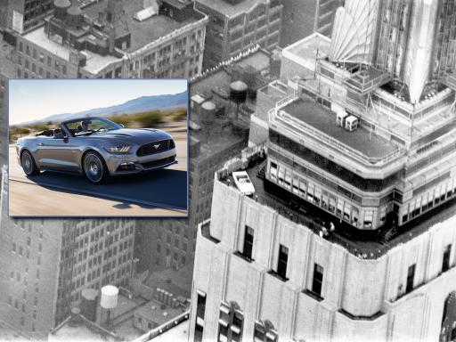 2015 Ford Mustang Empire State building