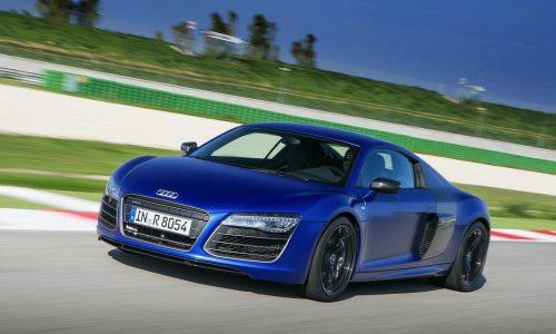 Audi R8 V10 plus on the track