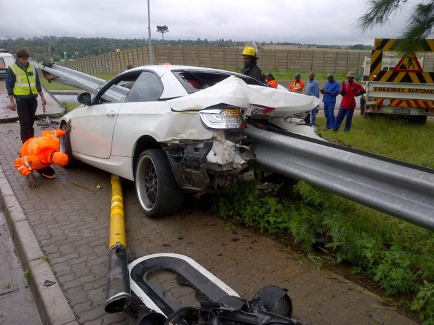 BMW 335i crash guard rail-Johannesburg