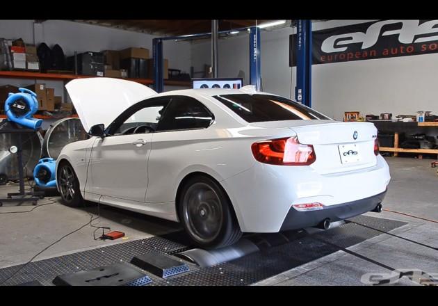 BMW M235i on dyno