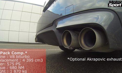 BMW M5 vs Mercedes E 63 AMG: engine sound battle