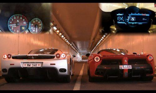 Ferrari Enzo vs LaFerrari – engine sound battle
