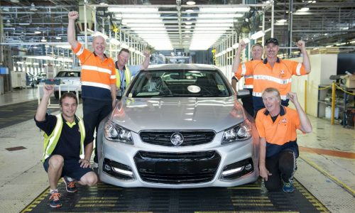 Holden rolls out 50,000th VF Commodore at Elizabeth