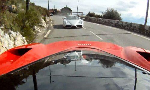 LaFerrari being chased by Ferrari Enzo