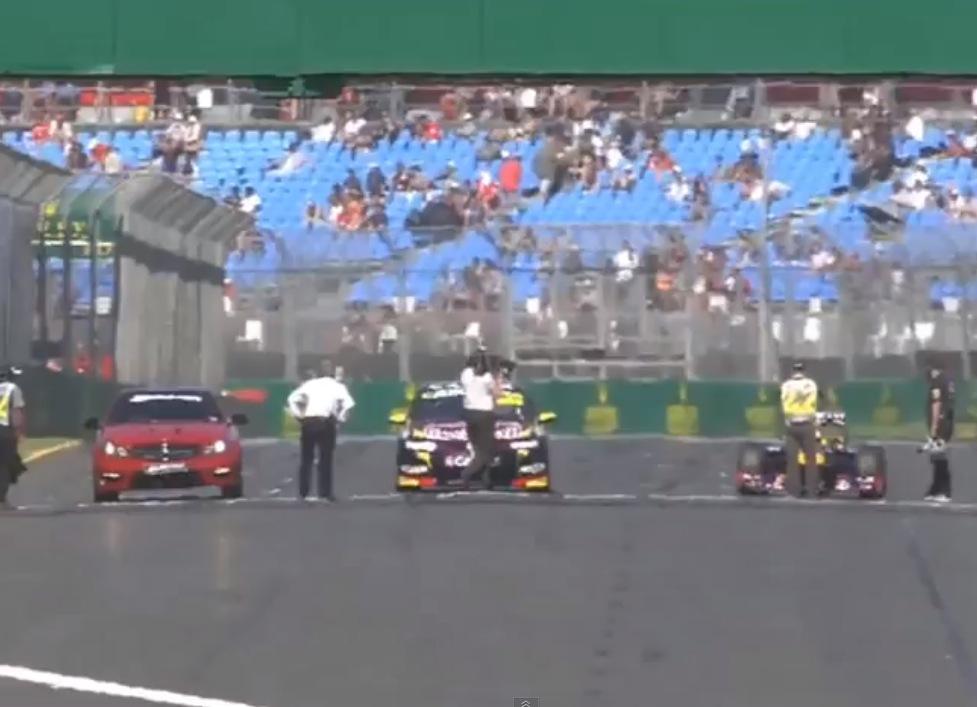 Mercedes C 63 AMG vs V8 Supercar vs F1 car