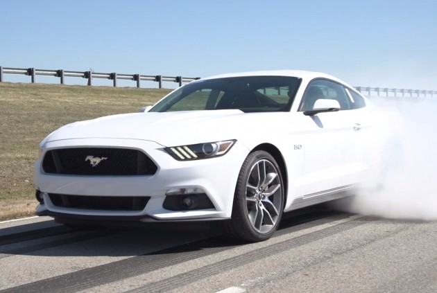 2015 Ford Mustang burnout app