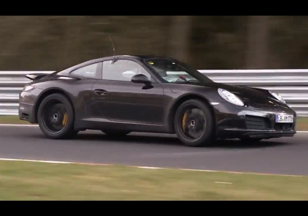 2015 Porsche 911 prototype four-cylinder maybe