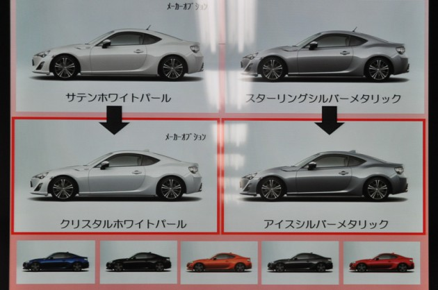 2015 Toyota GT 86 update-new colours