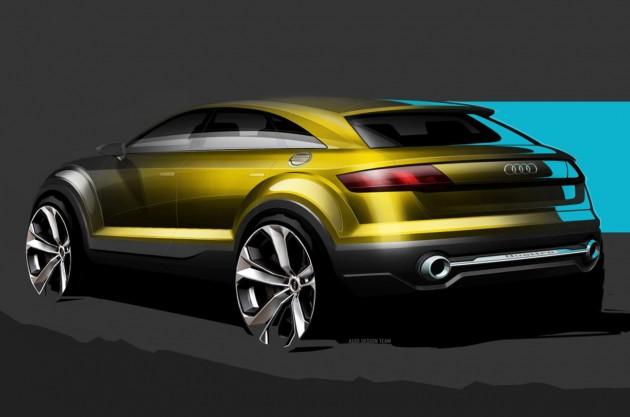 Audi Q4 concept sketch-rear