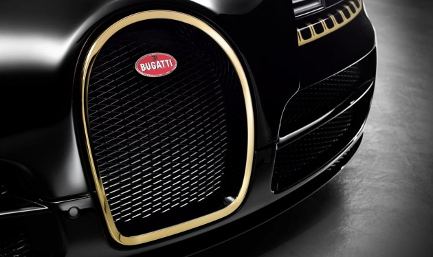 Bugatti Veyron Grand Sport Vitesse Black Bess-gold plated grile