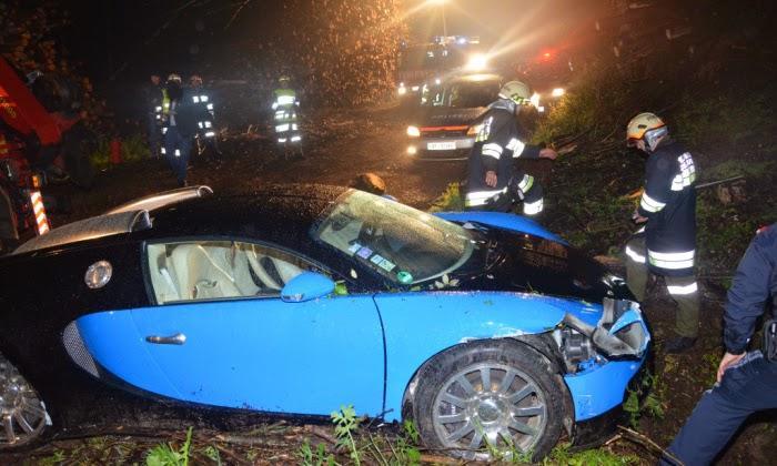 Bugatti Veyron Crash In Austria Off 40 Foot Drop