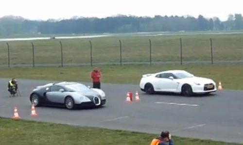 Tuned Nissan GT-R vs lightly tuned Bugatti Veyron