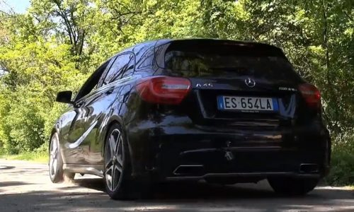 Cool demo of Mercedes-Benz A 45 AMG launch control