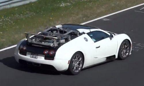 Video: New Bugatti Veyron prototype spotted, hybrid?