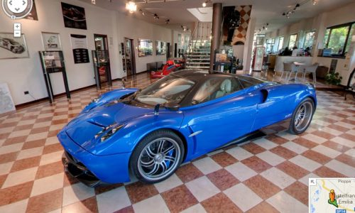 Pagani workshop in Modena added to Google Street View