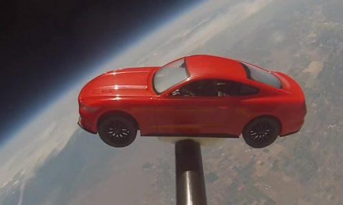 2015 Ford Mustang makes it to space