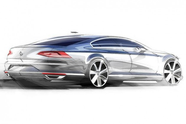 2015 Volkswagen Passat sketch-rear