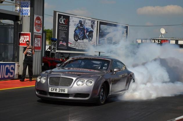 Bentley Continental GT drag car