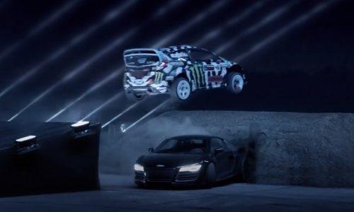 Castrol Edge ad with Ken Block, BMW M4, Audi R8, Aventador