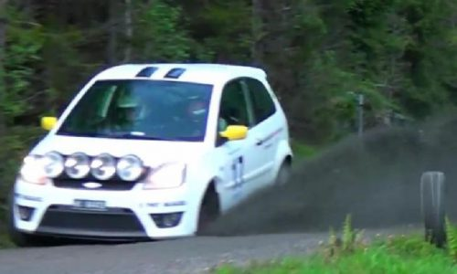 Wheel comes off Ford Fiesta rally car, hits photographer