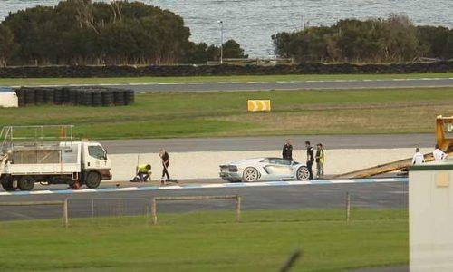 Lamborghini Aventador catches fire at Phillip Island during media drive