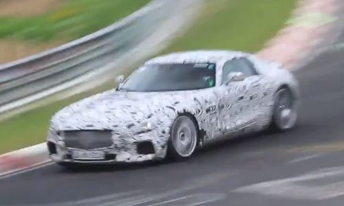 Mercedes-AMG GT prototype spotted at Nurburgring