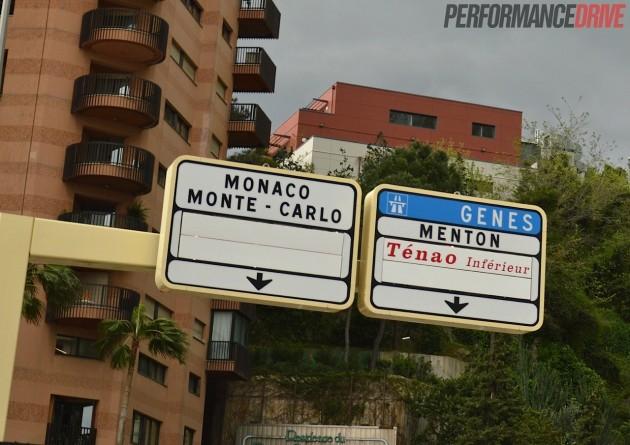 Monaco Monte Carlo-road sign