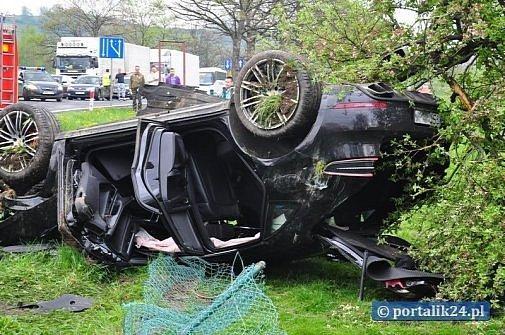 Porsche Macan crash Poland