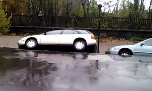 Sinkhole in Baltimore swallows cars