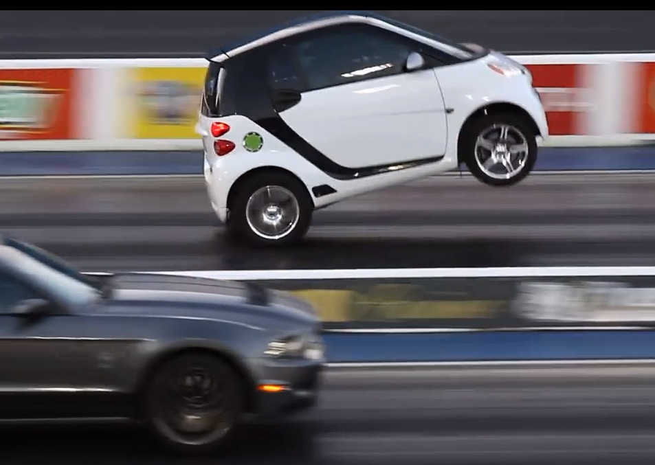 Honda All Wheel Drive >> Smart Fortwo with Toyota engine conversion does wheelies ...