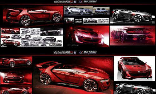 Outrageous VW GTI Roadster Vision Gran Turismo concept