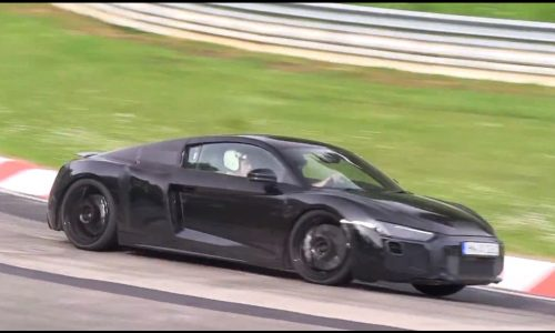 2015 Audi R8 V10 prototype spotted, nice soundtrack