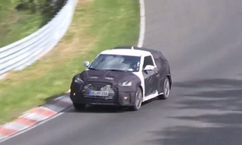 Video: New Hyundai Veloster Turbo prototype spotted