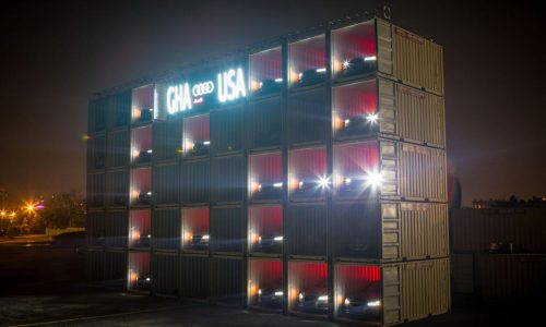 Audi builds giant World Cup scoreboard out of A8s