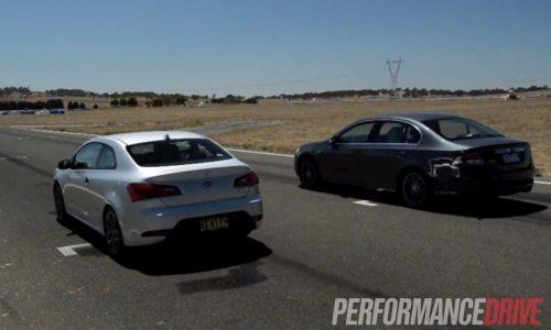 Drag race: 2014 Ford Falcon G6E vs 2014 Kia Koup Turbo