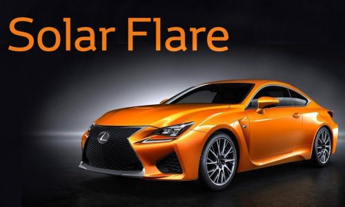 Lexus RC F hero colour named via Facebook; 'Solar Flare'