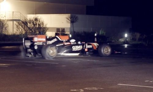 The Stig from Top Gear steals Lotus F1 car